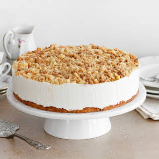Cheesecake with Butter Streusel.