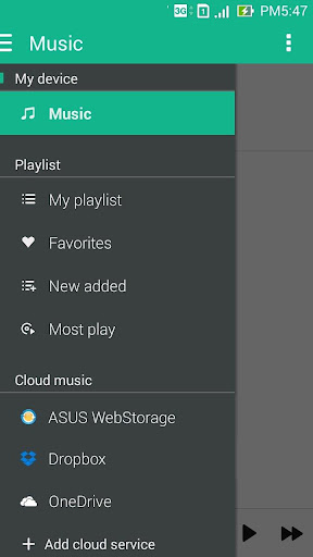 ASUS Music screenshot 1