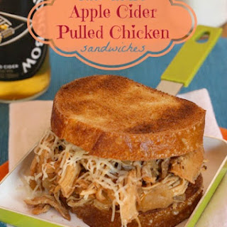 Slow-Cooker Apple Cider Pulled Chicken Sandwiches for #WeekdaySupper