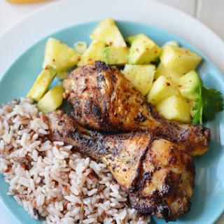 Jamaican Jerk Chicken and Pineapple Avocado Salsa Recipe