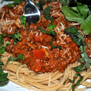 Healthy Spaghetti and Meat Sauce.