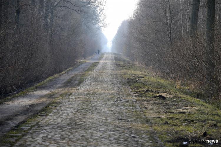 📷 O zo mooi, waarom eens geen 'witte' Parijs-Roubaix? Bos van Wallers ondergedompeld in laagje sneeuw