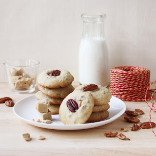 Chewy Maple Syrup Fudge and Pecan Cookies.