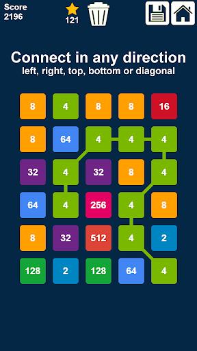 2048 Connect n Merge Numbers: Free Merge Puzzle ss1
