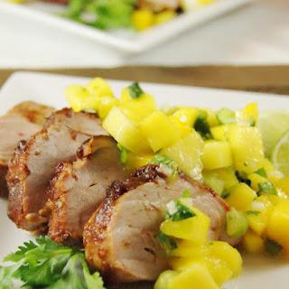 Sweet-&-Spicy Pork Tenderloin with Mango Salsa