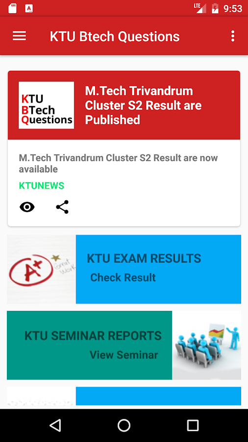 KTU BTech Questions- screenshot