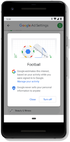 Giving you control over your Google ad experience
