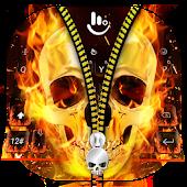 Tải Skull Zipper Keyboard Theme APK