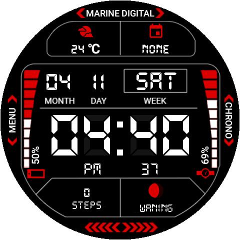 Marine Digital 2 Watch Face & Clock Live Wallpaper 1.07 screenshots 16