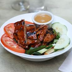 Grilled Jerk Soy Chicken Salad