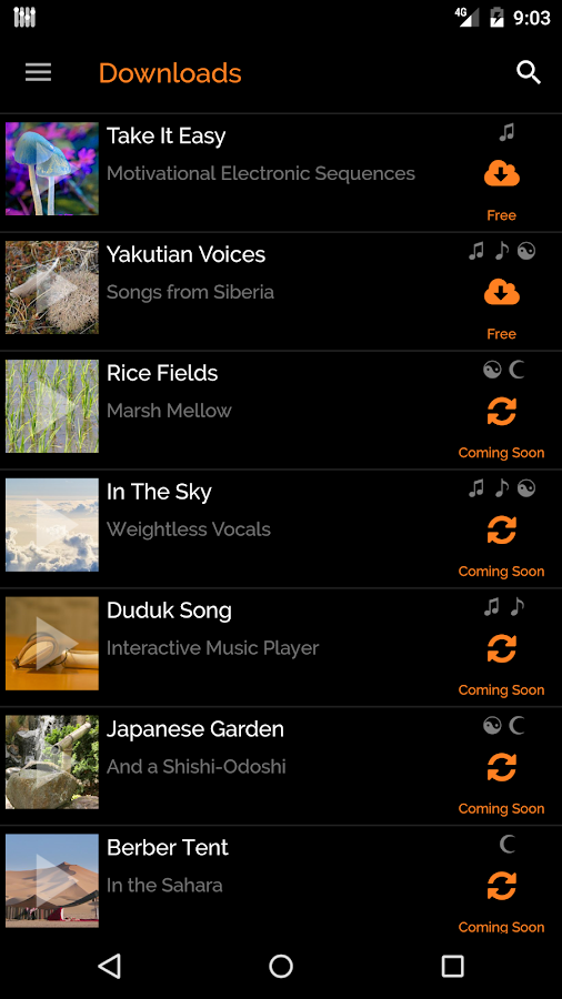 myNoise- screenshot