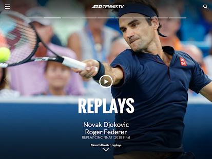 Tennis TV - Streaming ATP en direct Capture d'écran