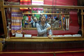 Photo: The weaver