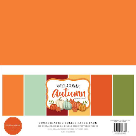 Carta Bella Solid Cardstock 12X12 6/Pkg - Welcome Autumn
