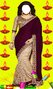 Diwali Women Photo Suit 2017 - náhled
