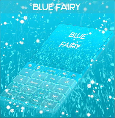 Blue Fairy For GO Keyboard - screenshot