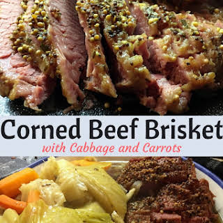 Corned Beef Brisket with Cabbage and Carrots.