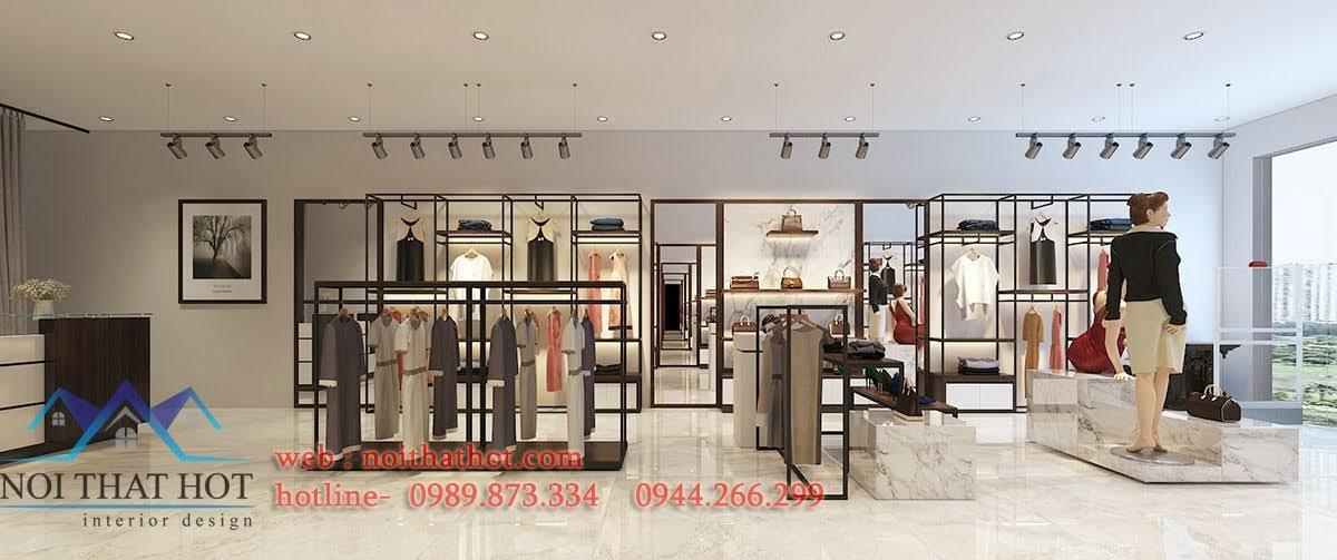 giá kệ trưng bày shop thời trang