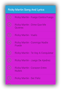 Ricky Martin Mordidita Lyrics screenshot 1