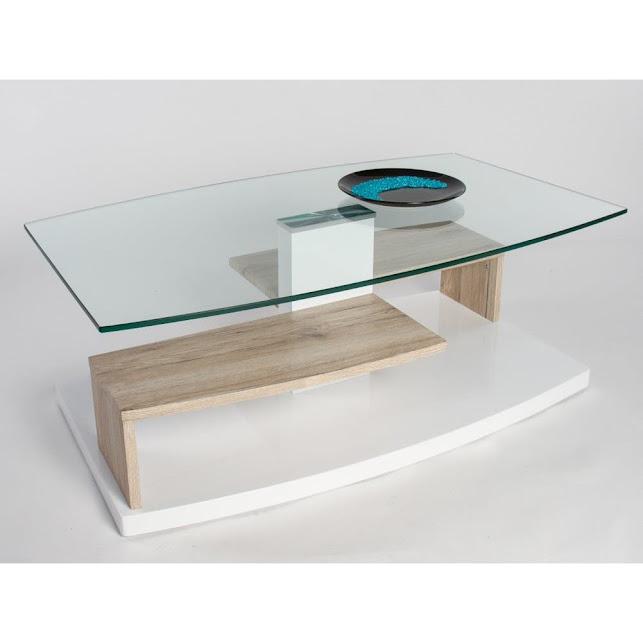 Tavolino basso da salotto moderno maxime cm 110x65x40 for Tavolini vetro