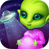 Mommys Cute Newborn Alien Baby