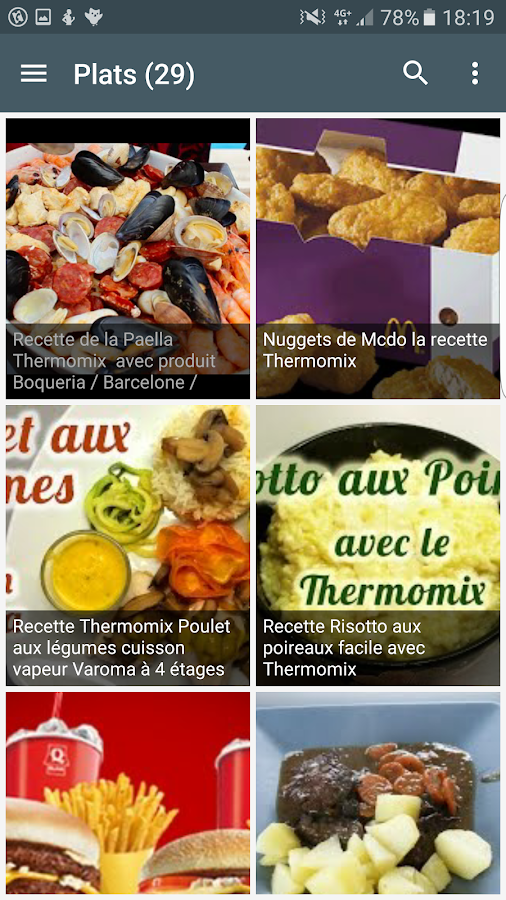 Recettes thermomix android apps on google play - Recettes thermomix en francais ...