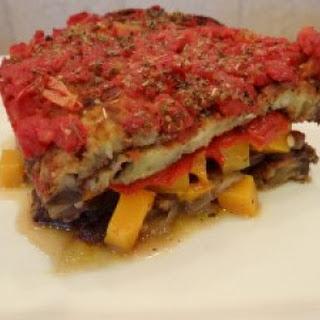 Vegetable Loaded Eggplant Lasagna.