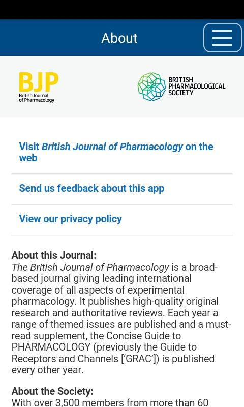 British Jnl of Pharmacology- screenshot