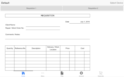 Requisition Form Android Apps on Google Play – Requisition Form