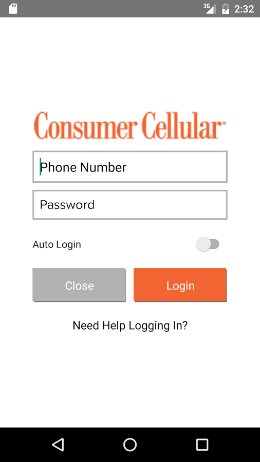 My Consumer Cellular- screenshot