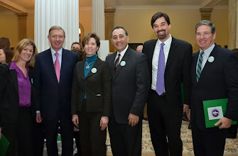 Photo: BBA Council member Deb Manus (Nutter McClennen & Fish), BBA President Paul Dacier, BBA President-Elect Julia Huston, BBA Council members Tony Froio (Robins Kaplan) and Jeff Pyle (Prince Lobel), and BBA Immediate Past President J.D. Smeallie (Holland & Knight).