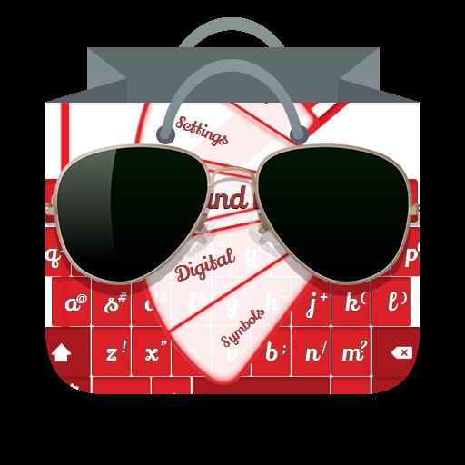白色和紅色 GO Keyboard 個人化 App LOGO-APP試玩