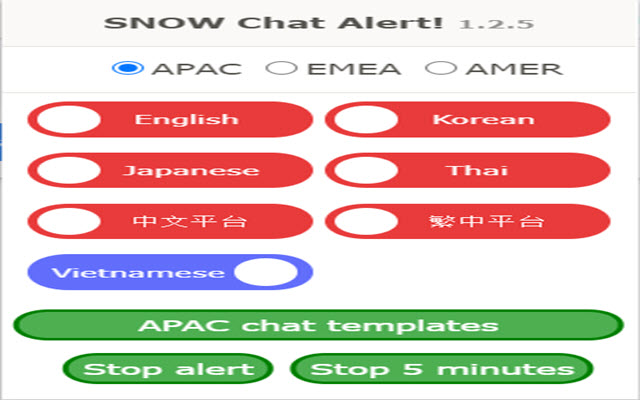 SNOW Chat Alert
