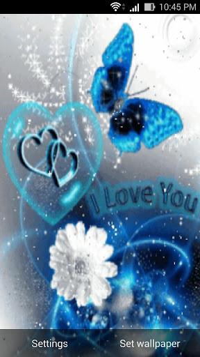 love 3d live wall paper screenshot 1