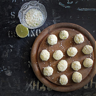 Ginger Beer and Lime White Chocolate Truffles.