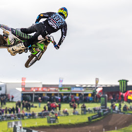 Leaping by Andy Dow - Sports & Fitness Motorsports ( motorsport, moto x, motocross, competition, jump )