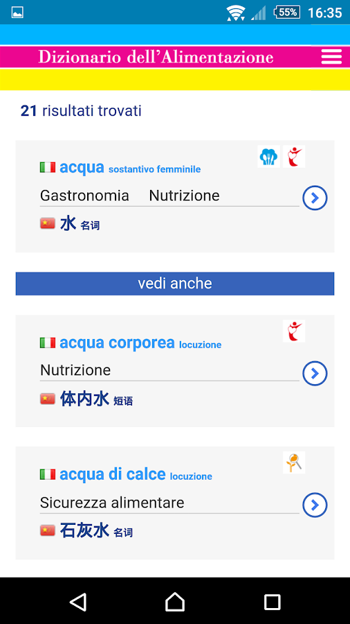 Dictionary of Food & Nutrition- screenshot