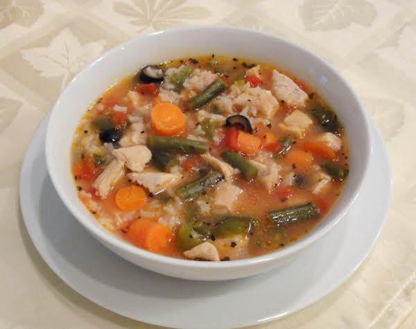 Chunky Turkey Soup, Mediterranean Style Recipe