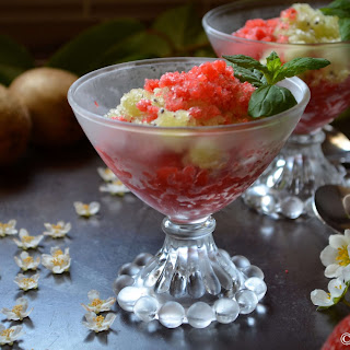 Ice Cold Strawberry Kiwi Granita