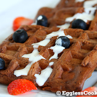 Vegan Chocolate Waffles.
