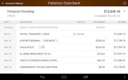 Patterson State Bank Mobile Screenshot 7
