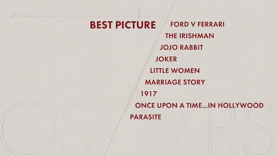 parasite best picture nominees