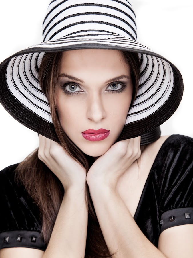 The Hat by Jorge Cal - People Portraits of Women ( the hat )