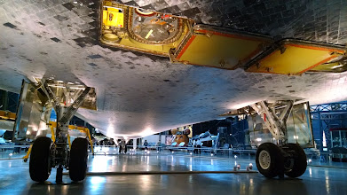 Photo: The belly of Space Shuttle Discovery
