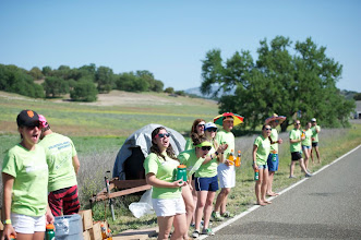 Photo: 16. Ecstatic volunteers staffed the aid tables.