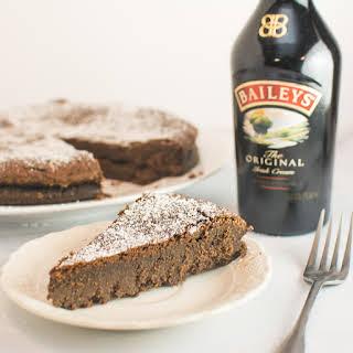 Chocolate Irish Cream Flourless Cake.