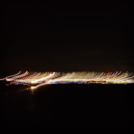 Airport at Night by Suzette Christianson - Digital Art Abstract (  )