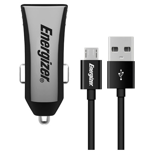 Sạc ô tô Energizer QC 2.0 Kèm Cáp Micro USB - DCA1QHMC3 (Đen)_1