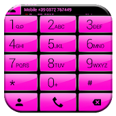 Dialer Gloss Pink Theme