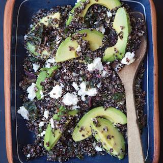 Black Quinoa Salad with Lemon, Avocado and Pistachios